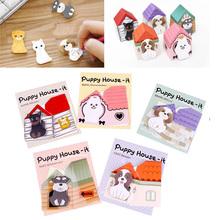 Cute Mini Dog House Sticker Post Pad Bookmark Mark Tab Memo Sticky Notes 10Pcs/lot #67769(China (Mainland))