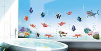 617  Sea World animals kids room colorful cartoon OWL forest tree wall sticker ZY1008