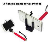 Universal Portable Telescopic Shaft flexible clamp colorful holder for iphone samsung ect mobile phone with retail box XC2005