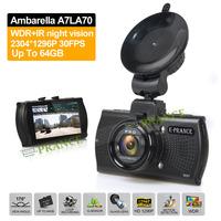 E-prance Car DVRS B48 Dashboard Car Camera Video Recorder Ambarella A7 LA70 HD 1296P With Optional GPS / Fliter 170 Degree