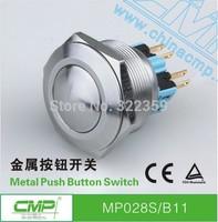 CMP 28mm latching 1NO1NC Metal ball head waterproof Push Button Switch