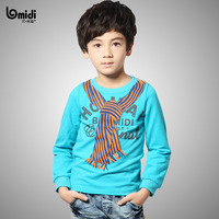 2014 fashion hot cozy t shirt male boy clothing autumn tops 1331002 full sleeve cotton O-neck kids tees clothes blouses t-shirt