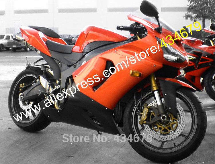 Hot Sales,Low price fairings For ZX 6R 05 06 Kawasaki Ninja ZX6R 2005 2006 ZX-6R 636 ZX636 fairing kit (Injection molding)(China (Mainland))