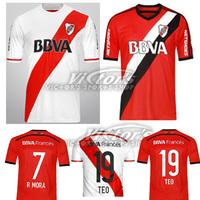 2014 15 RIVER PLATE jersey soccer 3 BALANTA 9 CAVENAGHI 21 VANGIONI 2015 River Plate home jersey shirt 7 R MORA can customiz
