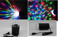 DJ magic ball KTV BAR HOME Party EU/US Plug New RGB 3W Crystal Magic Ball Laser Stage Lighting For Party