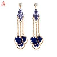New Fashion Strong Statement Big FIgure Flower Floating Dangle Earrings  Female Party Earrings
