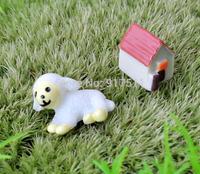 mini morld sheep House 2pcs set 3D simulation kawaii small resin doll Mosses Micro Landscape Bonsai Desk Decoration DIY material