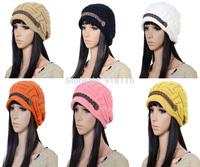 Women / Ladies Winter Knitted Hat  Beanies Super Warm  Braided Hats Beautiful  Fashion Crochet Seamed Cap Knitting Hat   1032