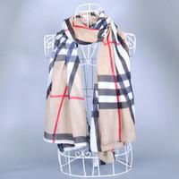 Hot sale women British style plaid printed spain desigual scarf Female Velvet thicken Winter warm Scarf bandana shawl scarf wrap