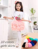 wholesale 5pcs/lot 2~7years kids clothes  six layers dance skirts  10colors girl's mini cake princess skirt B1212