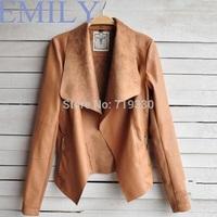 Free Shipping Brand New Fashion Spring   PU Coats Ladies Casual Outerwear Feminino Jaqueta Couro Leather Jacket Women Plus Size