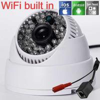 1280*720P 1.0M WiFi IP Dome Camera ONVIF Indoor IR-CUT P2P 48 IR leds