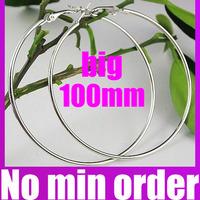 Unique 100mm Big Hoop Earrings Europe and America Large Loop Earrings - no minimum order