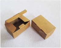 Free Shipping DIY Folded Favor Handmade Soap Box Gift Candy Package - 9.3 x 5.7 x 4cm brown 150pcs/lot LWB0438
