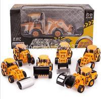 Free Shipping~ 2pcs/lot 1:8 7 back in super alloy models truck model children toy car