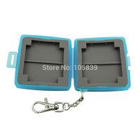 MC-U6B Waterproof Anti-shock Memory Card Case Hard Storage 2x CF + 4x SD GBW Blue 3pcs/lot