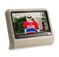 """New Sytle 9"""" Headrest Slot-In Car DVD Player with FM Transmitter/IR/USB/SD/Wireless Game w/o SD card"""