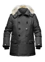 real fur coat for men's down jackets winter outdoor clothing overcoat Kato Peacoat