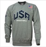 Hot sweatshirt male sweatshirt durant basketball clothes long-sleeve 100% cotton sports casual o-neck american team usa