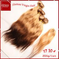 T27/30/4 ombre 3 tone peruvian ombre hair weaves,cheap human hair 6pcs 205g/lot,6a unprocessed peruvian natural wave virgin hair