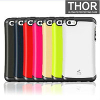 New Hot KoreanThor Armor Drop Resistance Silicone Protective Hard Back Cover Case For Apple Iphon5/5s phone 7Color Free Shipping