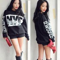 Sweatshirts 2014 Women Hoody Printed Hoodies Casual T Shirt Fashion Sport Suit Women's Sweatshirt Plus Size Clothes Dropshipping