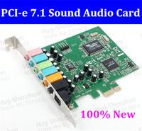 Free Shipping 1pcs  PCI Express PCI-E 7.1 Bundle Deal 24-bit 192KHz Sampling Rate 7.1 PCI-e  Sound Audio Card