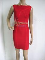 Cute Girl 2014 Top Quality HL Red Mother of the bride dresses kim kardashian Bandage dresses celebrity Dresses Drop Shipping