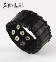 PSL034 wholesale supply of leather strap bracelet punk rock cowhide jewelry wholesale