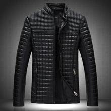 2014 New Style Men's Popular Handsome PU Leather Jacket  Plus Velvet Warm Plus Size M-5XL MWJ650(China (Mainland))