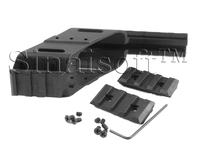 "Universal Tactical Pistol Scope Sight Laser Light Mount With Quad 7/8"" Weaver & Picatinny Rail Glock 17 5.56"