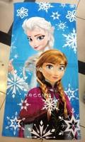 60*120cm New Frozen Towels 19 Designs Elsa Anna Olaf Cotton Towels Bathroom Children Beach Towel Kids Bath Towels 6pcs #F128