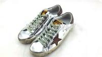 2014 freeshippingNew Golden Goose Sneakers Superstar Silver Flag Men Women Low Cut Shoes Sneakers