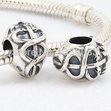 Wholesale DIY European Sterling Silver Jewelry Life Saver Charm Beads Fit Pandora Chamilia Style Bracelet