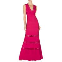2014 vestido de festa New arrival Women Knitted Floor-Length HL Bandage dresses evening celebrity party short prom dresses