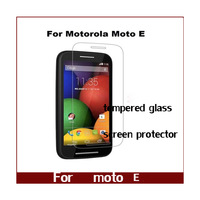 10pcs /lot Premium Real Tempered Glass Anti-shatter Screen Protector Film For Motorola Moto E XT1021 xt1022