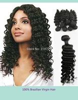 hair extension 1pcs deep wave curl brazilian virgin human hair extensions machine weft 10-28' natural color