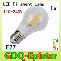 1x Energy saving E27 4W 8W Led Filament Light Bulb 360 Degree white,warm white lamp bulbs for home/indoor/kitchen AC110-240V