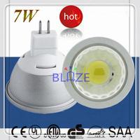 Factory Discount ETL CE 7W MR16 COB Led Spot Light 12V GU5.3 Warm Cold White LED Lamp Bulb 100pcs/Lot