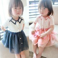 baby Girls summer lace flowers shing tutu princess dresses   BB406DS-100