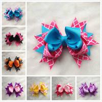 16 colours mix Ribbon bows Hair Bows Sculpture Hair Clippie fashion children accessory