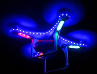 free shipping DJI Phantom Quadcopter LED Night Pilot Lamp Light Kit Strip In Nighttime Flight Blue Color