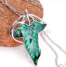 New Popular Vintage the Hobbit Necklace Elf Green Leaf Necklace Pendant for Men and Women Fashion