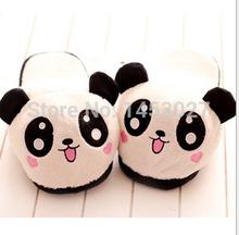 2014 tridimensional panda de dibujos animados expresión zapatillas de algodón caliente cuatro tipos para elegir(China (Mainland))