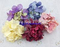 5C available 17CM artificial Big hydrangea flower head diy wedding bouquet flowers head wreath garland home decoration