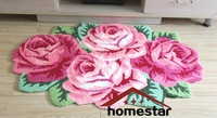 110x70cm EB03 Embroidered Rose flower Carpet Floral Livingroom Bedroom Wedding Room Carpet Floor Mat Door Mat Area Rug Sofa Pad
