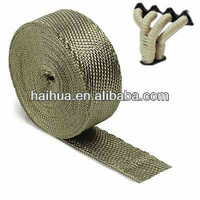 15m Titanium Heatwrap Top Quality High Temp Exhaust Manifold Downpipe Insulating Tape Thermal Turbo Wrap + 5 FREE 304 SS Tie Kit