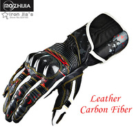 New High-grade Motorcycle Leather Carbon Fiber Gloves High Drop Resistant Protective Non-slip Gloves Motos Guantes Luvas