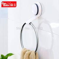 2015 New style sucker towel rack towel ring stainless steel bath accessories GB265003