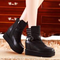 Platform flat elevator women's shoes high-heeled shoes boots martin boots f666-3